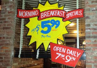 Window splash painting, breakfast special, The Window Goddess, Los Angeles