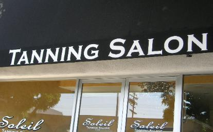 Awning Lettering, Tanning Salon, Los Angeles