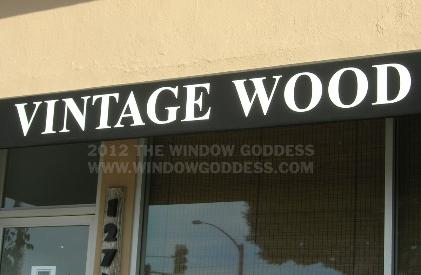 Awning Lettering, Vintage Wood, West Los Angeles