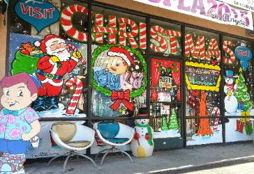 window splash, Christmas window, Big Kid